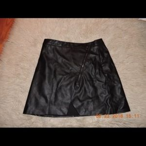 Banana Republic Asymmetrical Leather Skirt